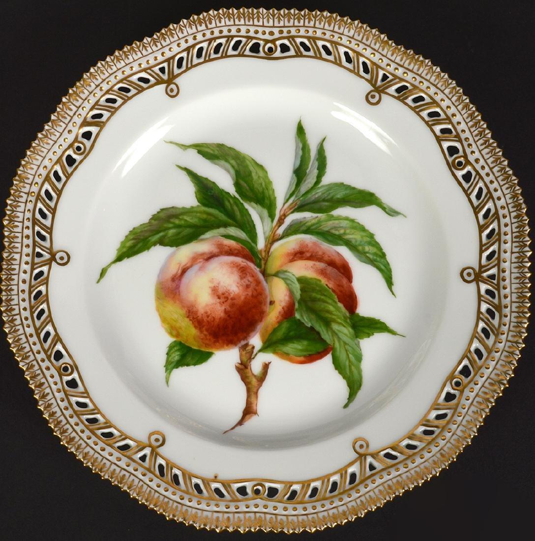 6 Royal Copenhagen Flora Danica Luncheon Plates - 2