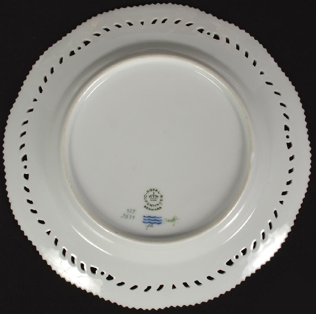 6 Royal Copenhagen Flora Danica Luncheon Plates - 3