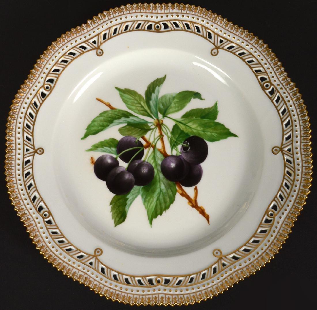 6 Royal Copenhagen Flora Danica Luncheon Plates - 4