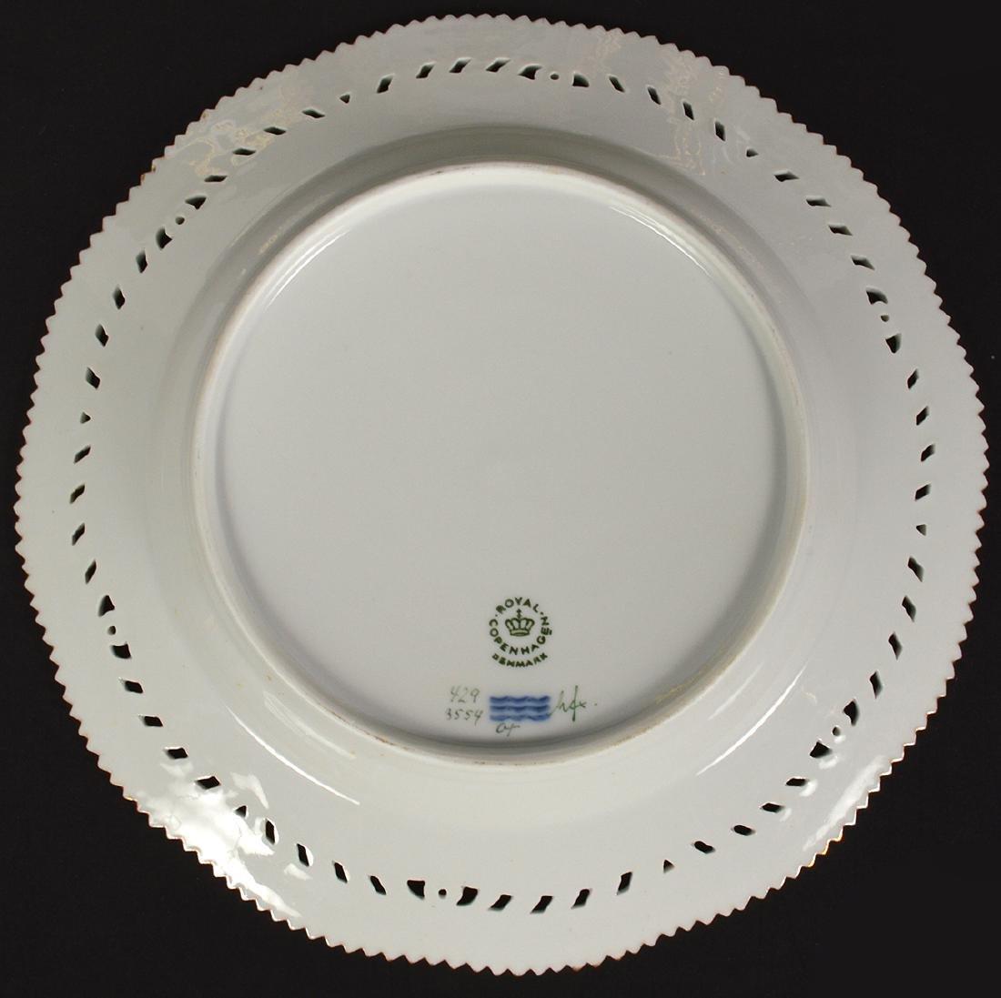 6 Royal Copenhagen Flora Danica Luncheon Plates - 5