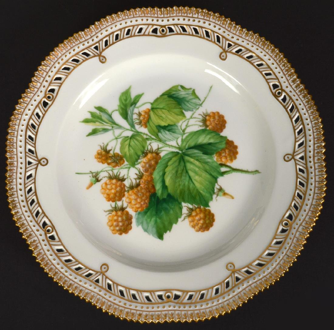 6 Royal Copenhagen Flora Danica Luncheon Plates - 6