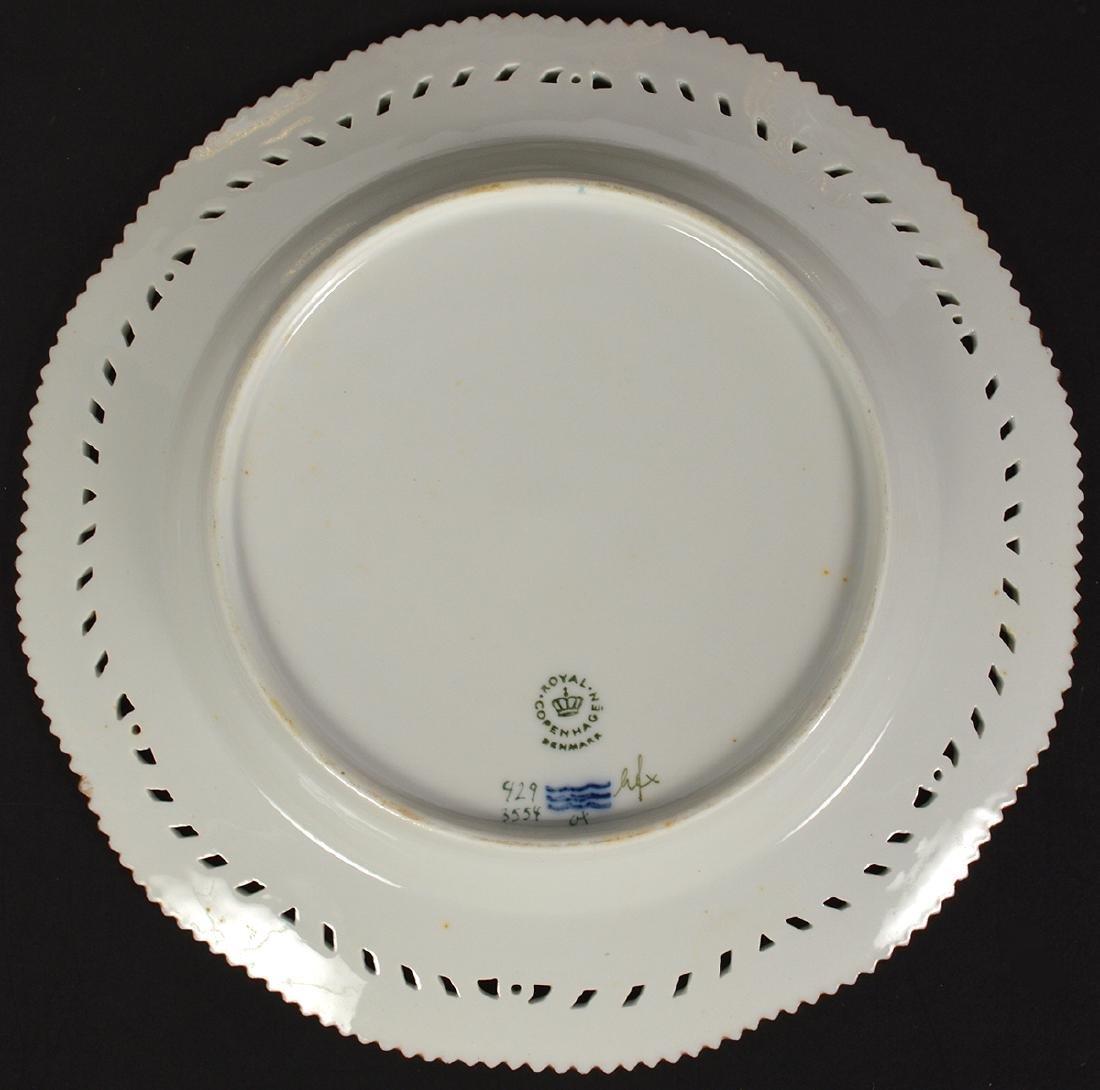6 Royal Copenhagen Flora Danica Luncheon Plates - 7