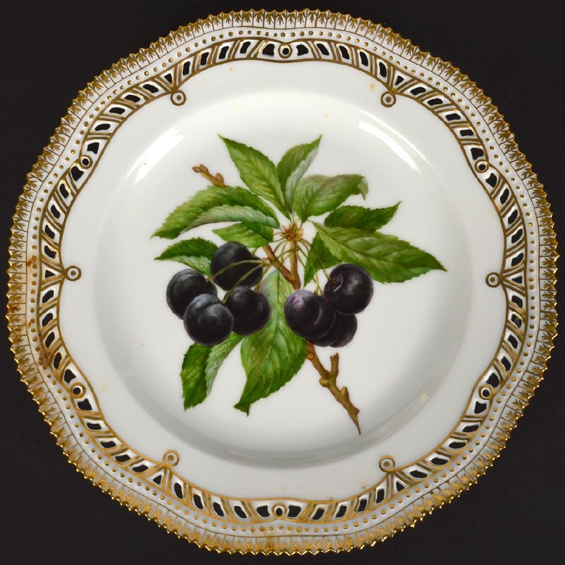 6 Royal Copenhagen Flora Danica Luncheon Plates - 8