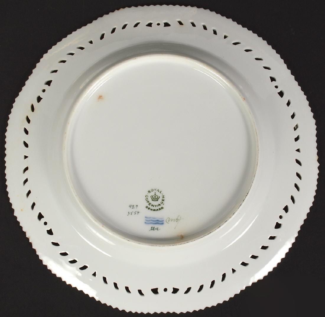 6 Royal Copenhagen Flora Danica Luncheon Plates - 9