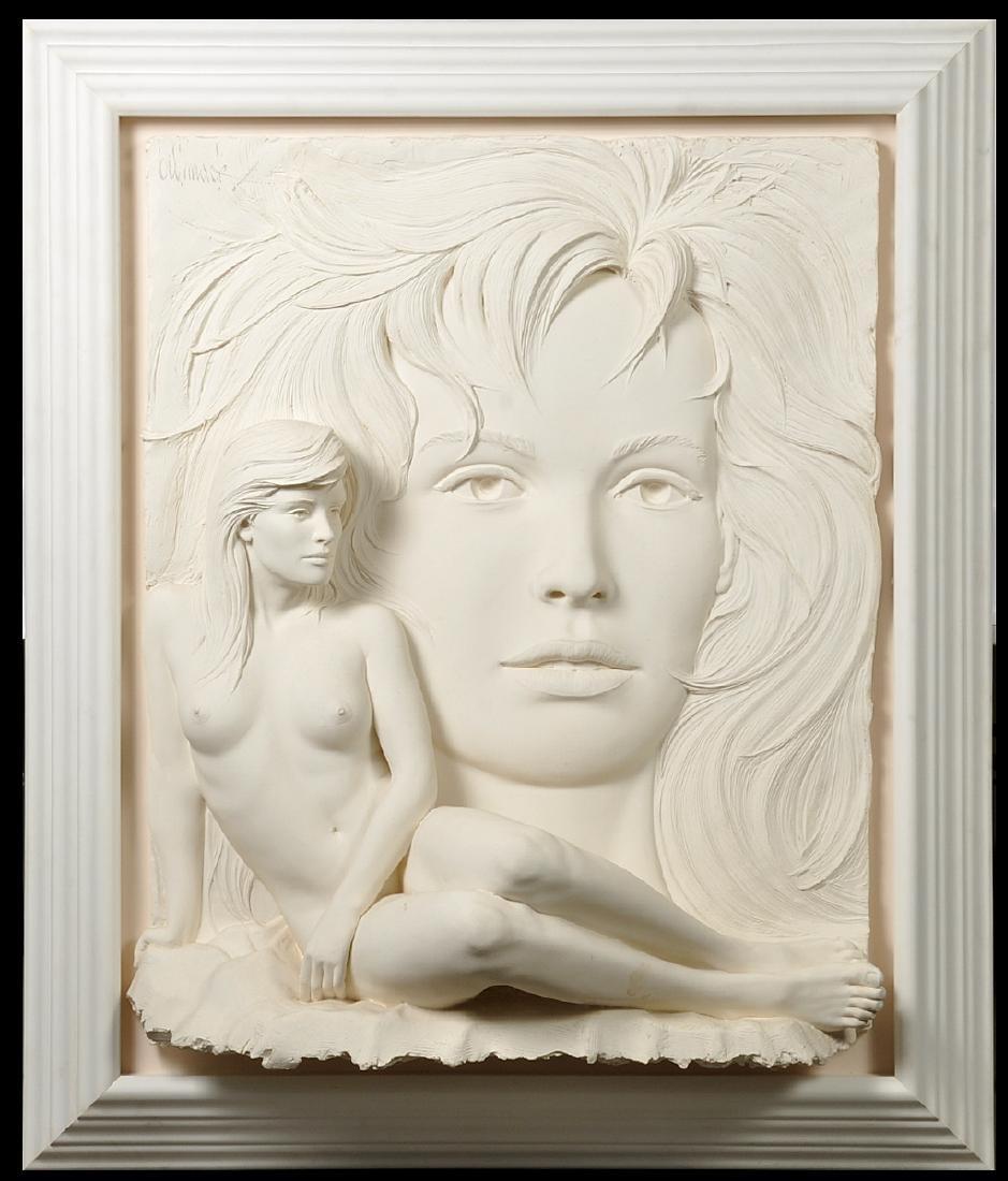 """Large Bill Mack """"Visions"""" Bonded Sand Sculpture"""