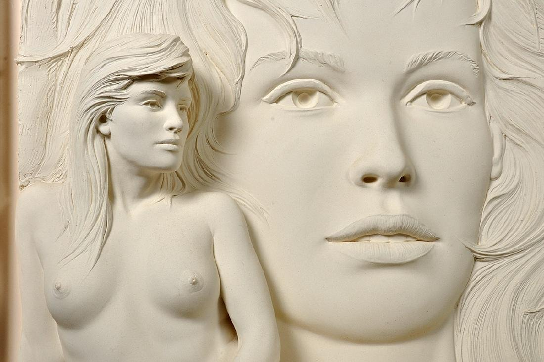 """Large Bill Mack """"Visions"""" Bonded Sand Sculpture - 3"""