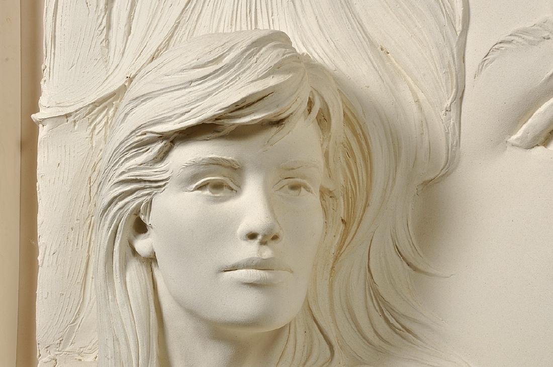 """Large Bill Mack """"Visions"""" Bonded Sand Sculpture - 7"""