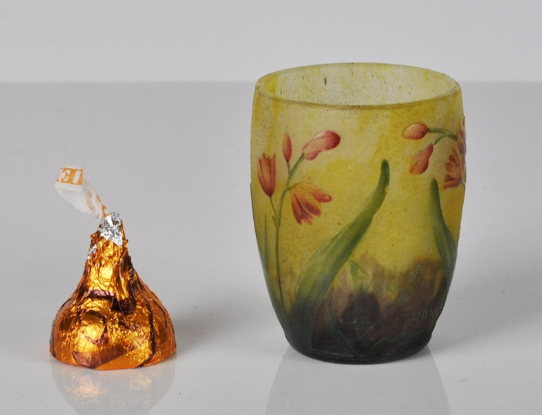 Daum Nancy France Miniature Cameo Vase