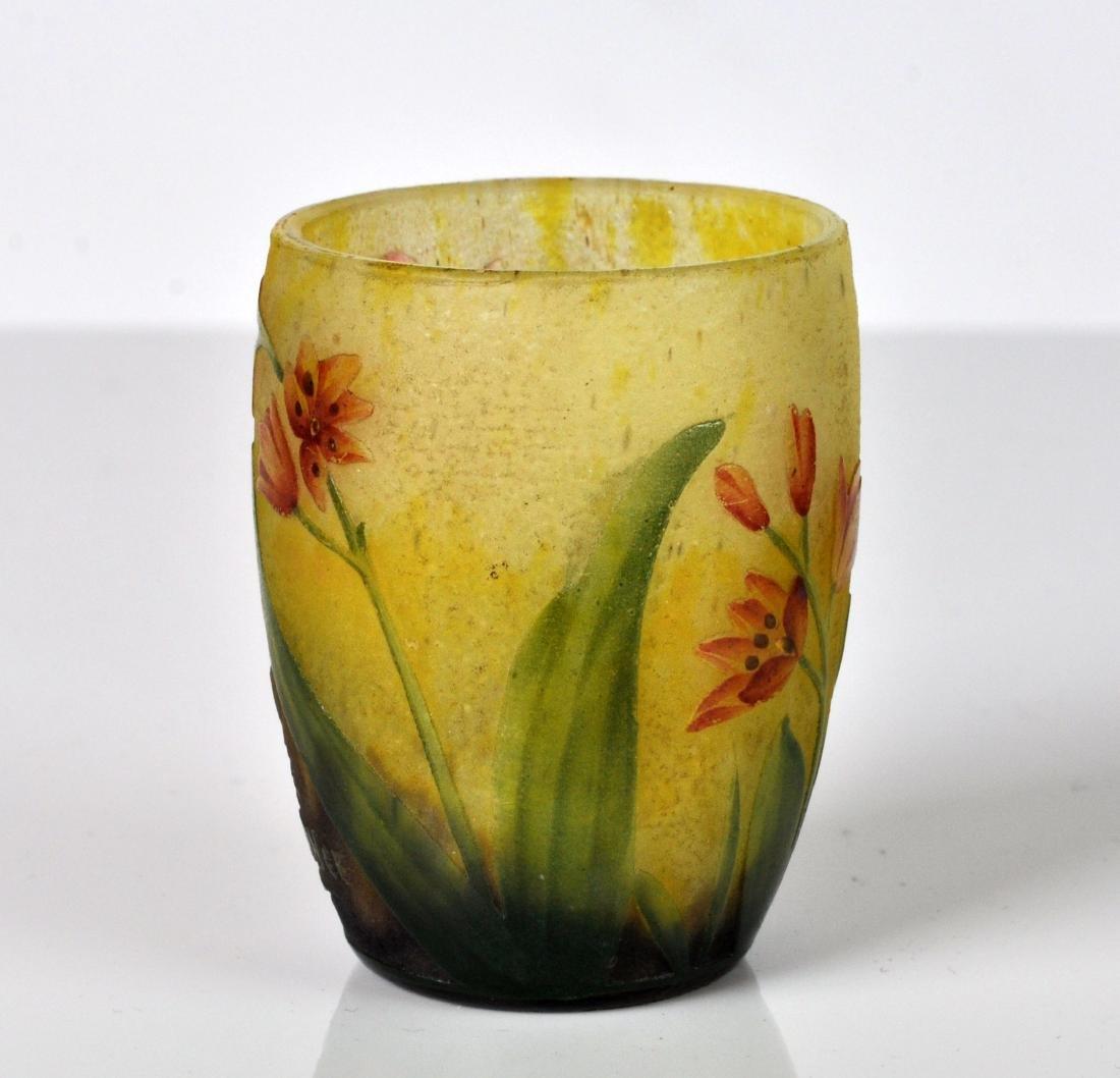 Daum Nancy France Miniature Cameo Vase - 2