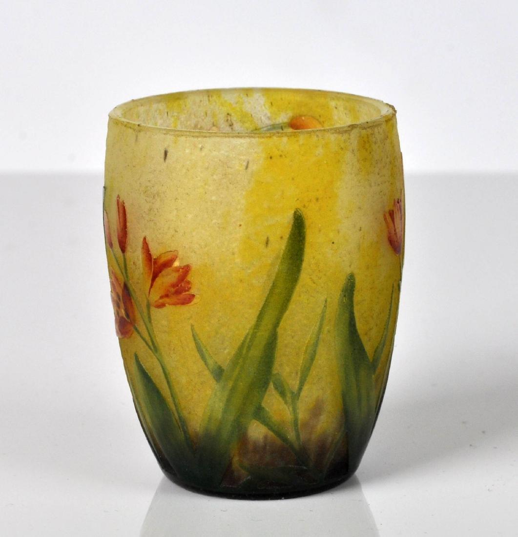 Daum Nancy France Miniature Cameo Vase - 3