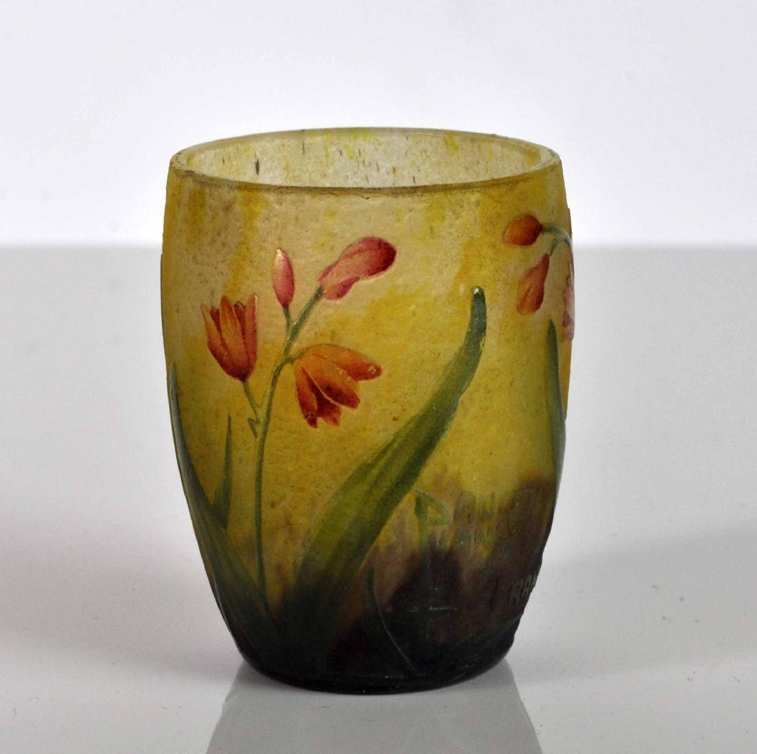 Daum Nancy France Miniature Cameo Vase - 4