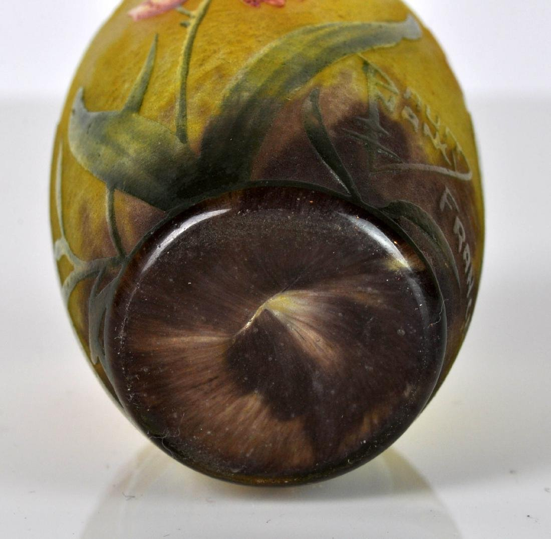 Daum Nancy France Miniature Cameo Vase - 8