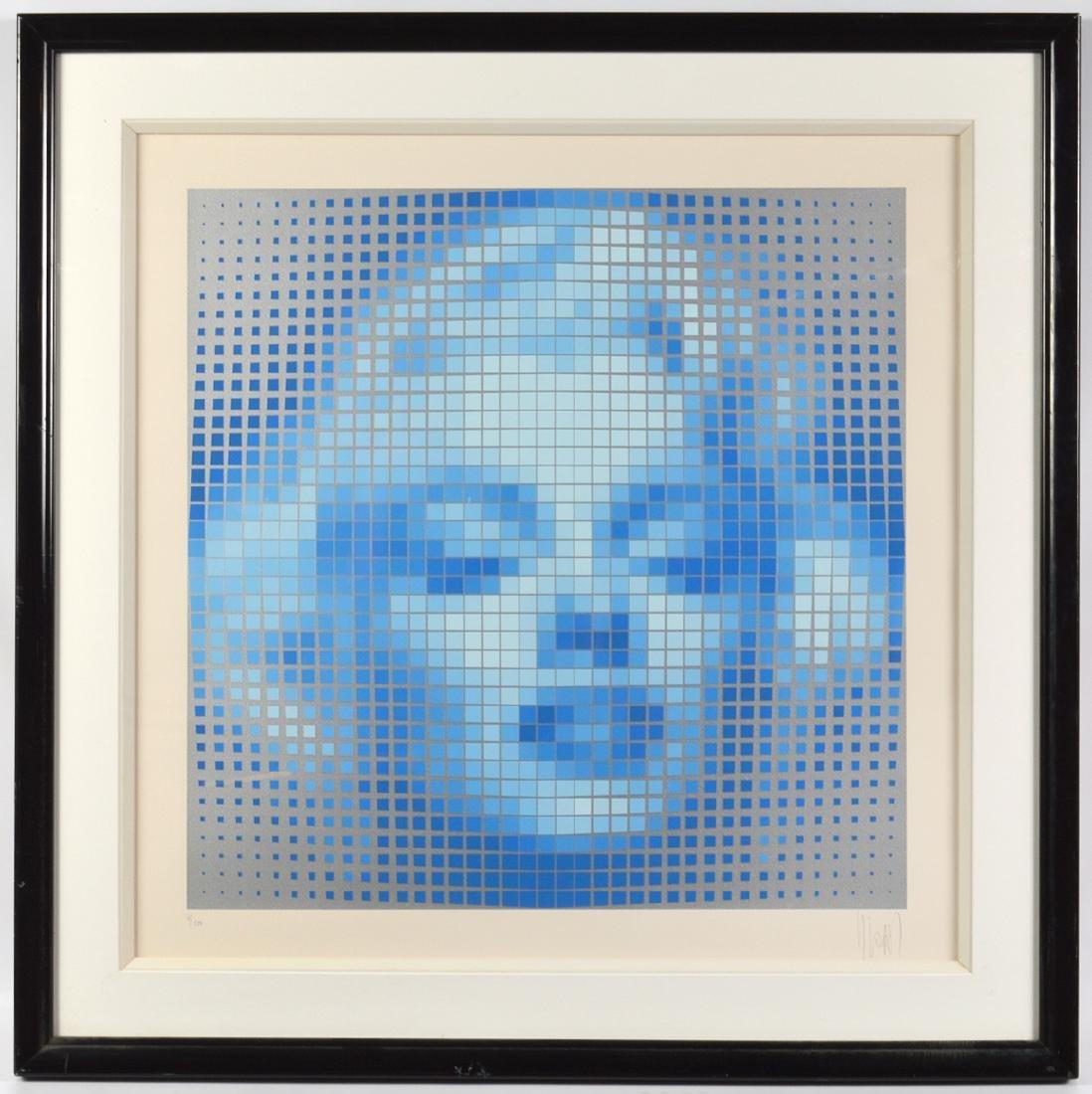"Yvaral ""Mystique I"" Marilyn Monroe Serigraph"