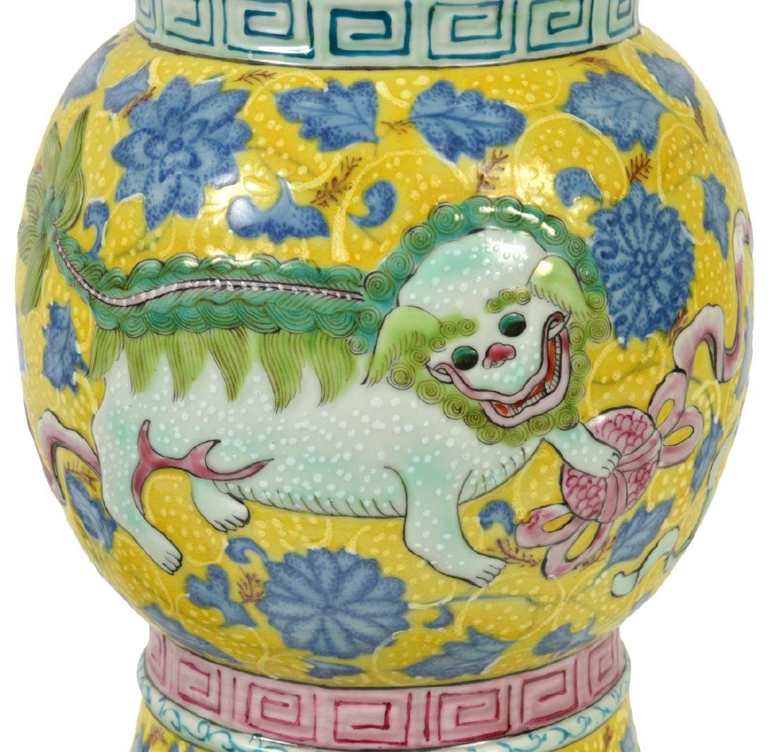 Pr. Chinese Porcelain Colorful Table Lamps - 3