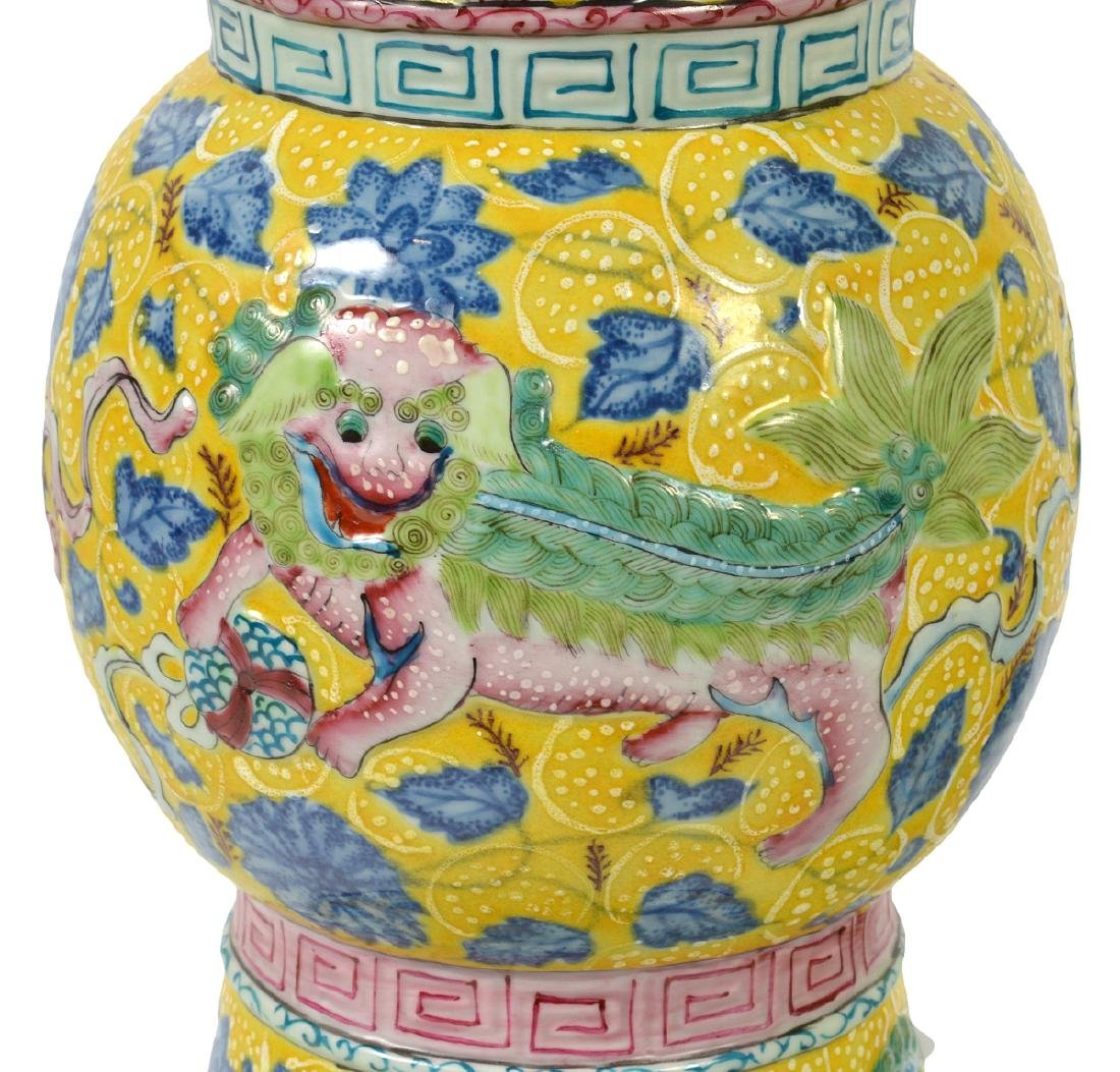 Pr. Chinese Porcelain Colorful Table Lamps - 4