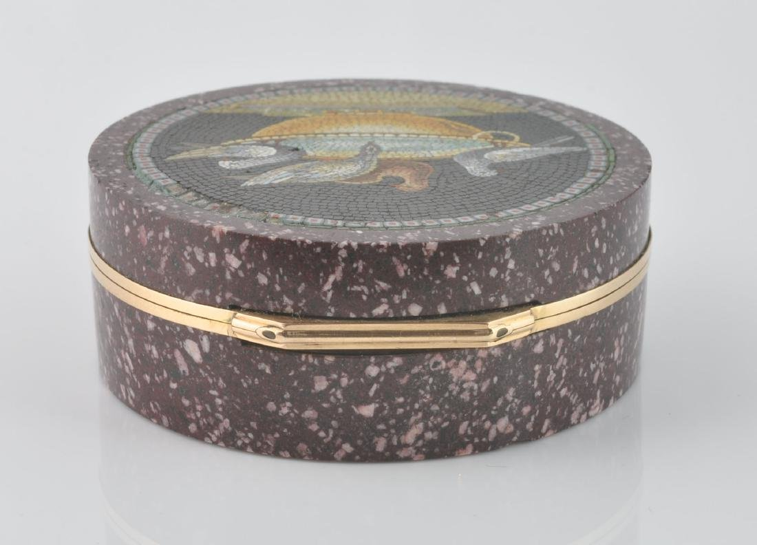 Italian Gold Mounted Micro Mosaic Box - 7