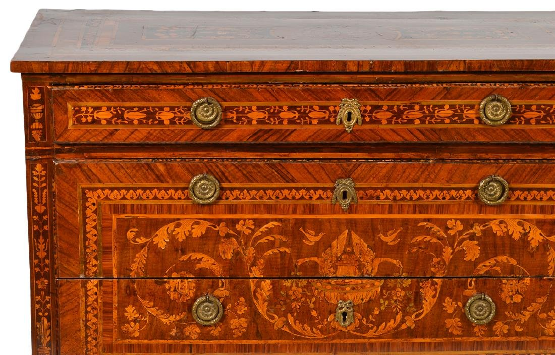 18th C. Italian Neoclassical Marquetry Commode - 2