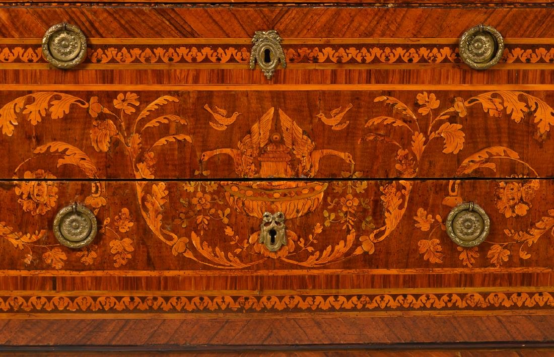 18th C. Italian Neoclassical Marquetry Commode - 4