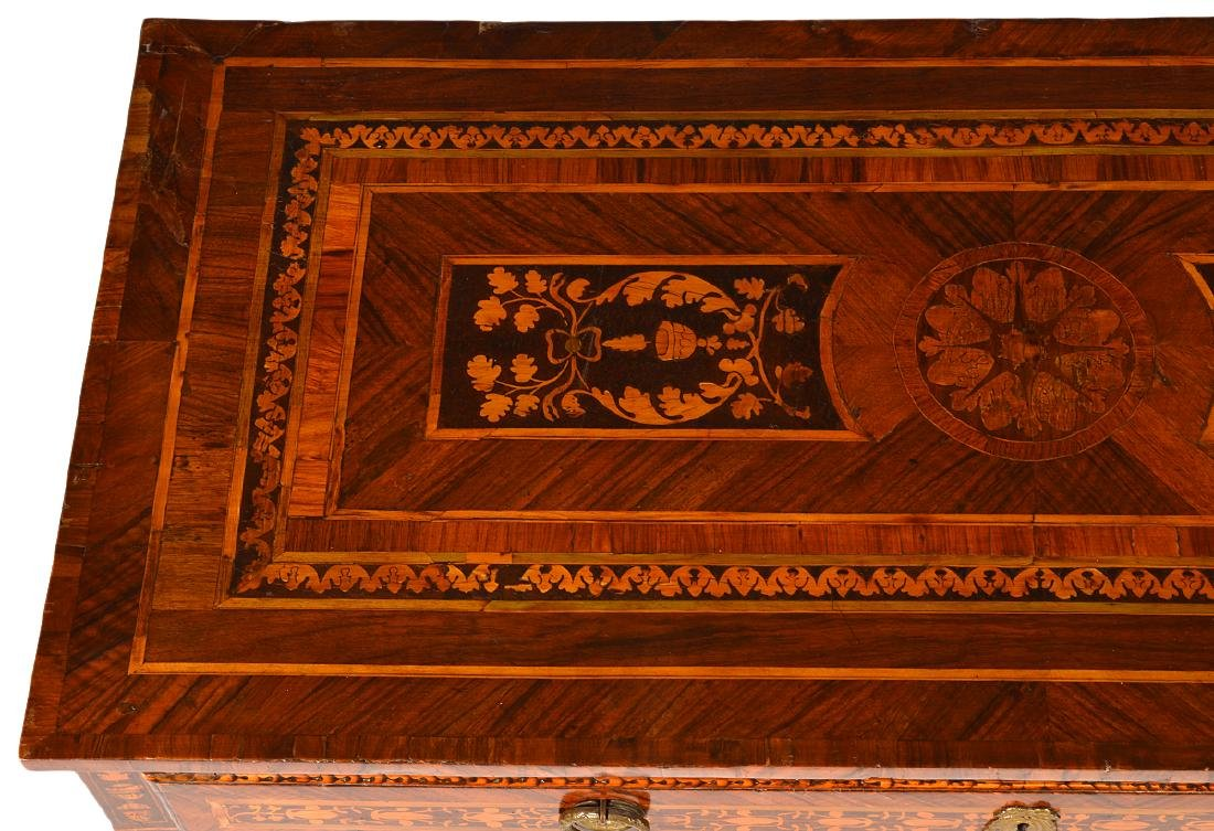 18th C. Italian Neoclassical Marquetry Commode - 8