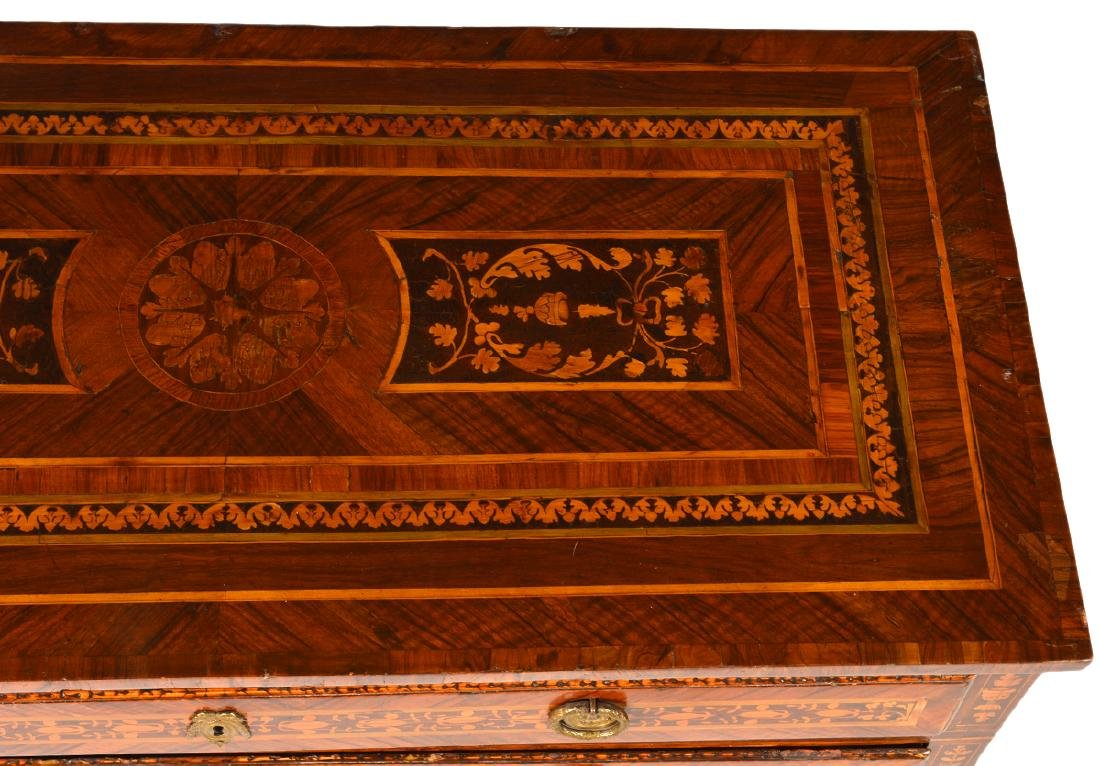 18th C. Italian Neoclassical Marquetry Commode - 9