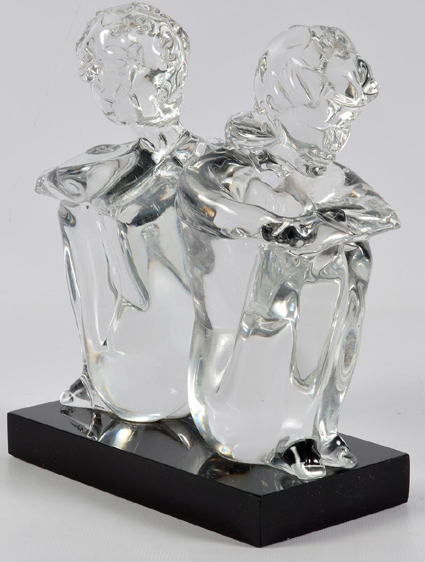 Leonardo Rosin Murano Clear Glass Sculpture