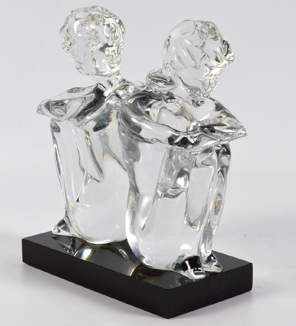 Leonardo Rosin Murano Clear Glass Sculpture - 2