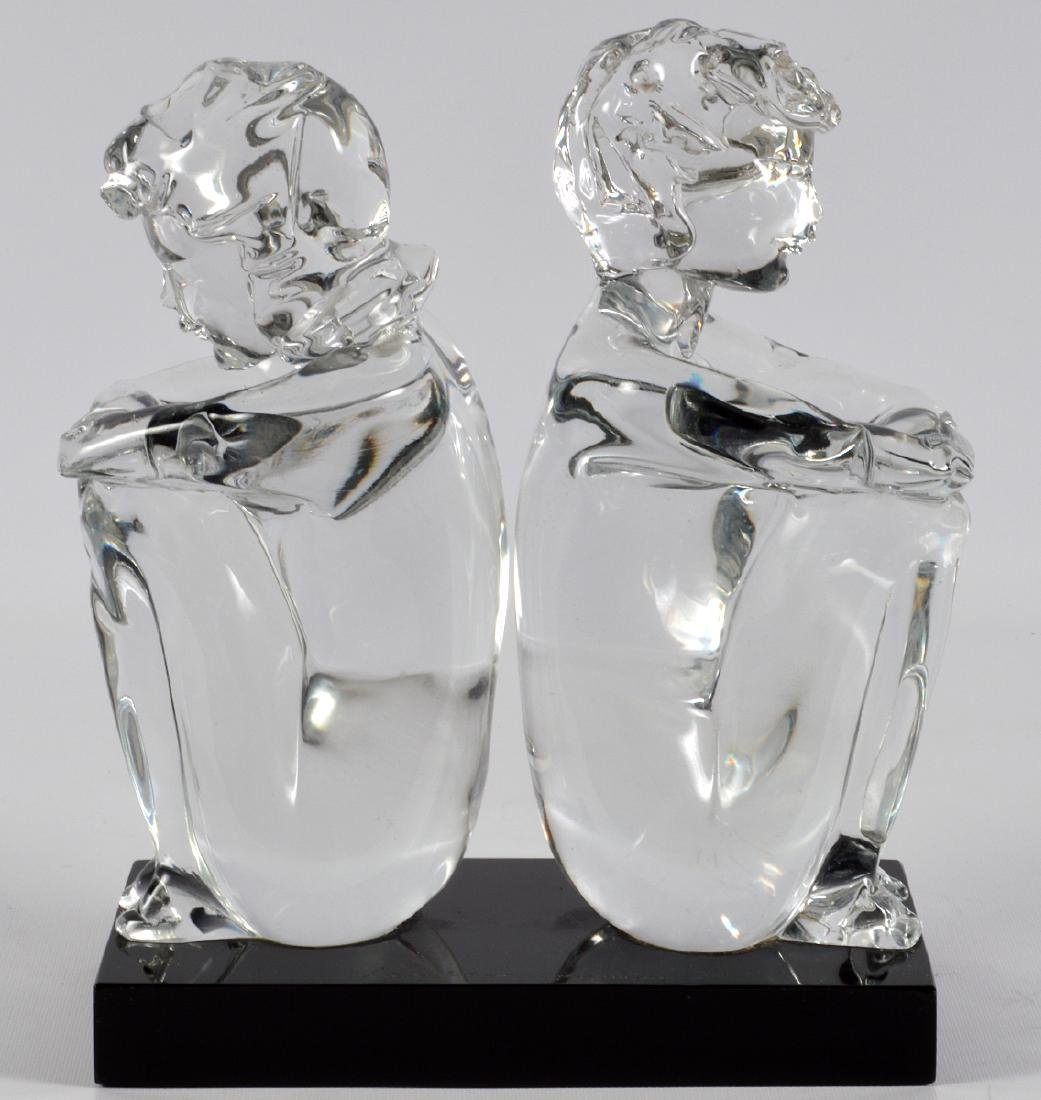 Leonardo Rosin Murano Clear Glass Sculpture - 4