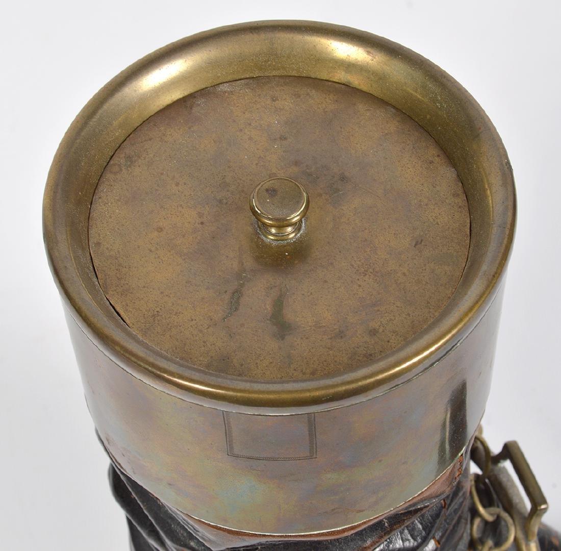 Bronze & Wood Unusual Boot & Horseshoe 'Humidor' - 10