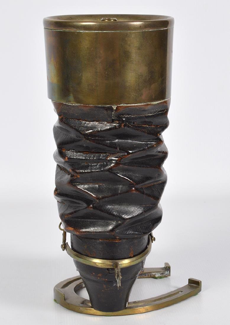 Bronze & Wood Unusual Boot & Horseshoe 'Humidor' - 3