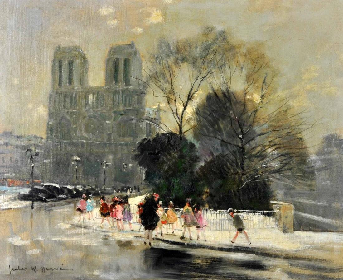 """Jules R. Herve, """"Notre Dame de Paris"""" O/C"""