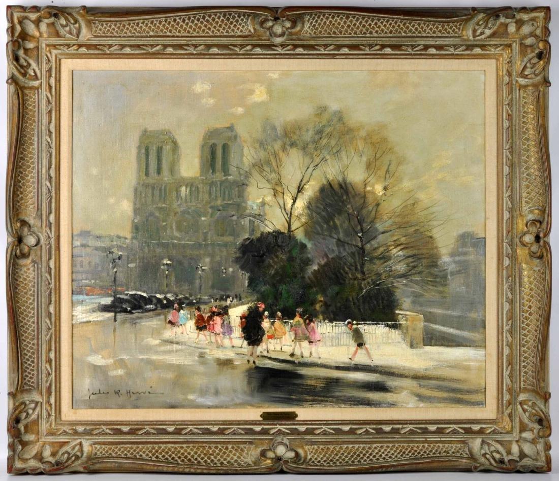 """Jules R. Herve, """"Notre Dame de Paris"""" O/C - 2"""