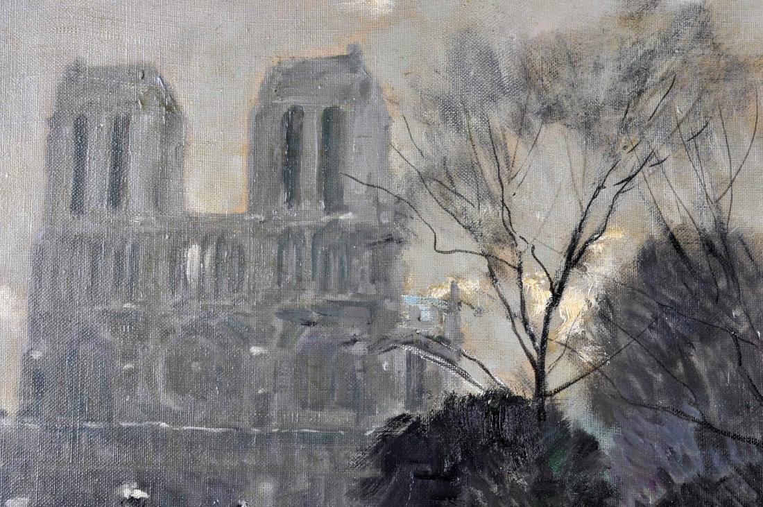 """Jules R. Herve, """"Notre Dame de Paris"""" O/C - 4"""