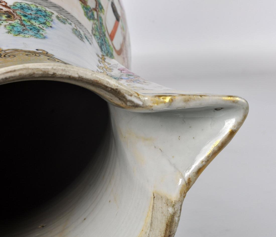 Chinese Export Ceramic Antique Water Jug - 12
