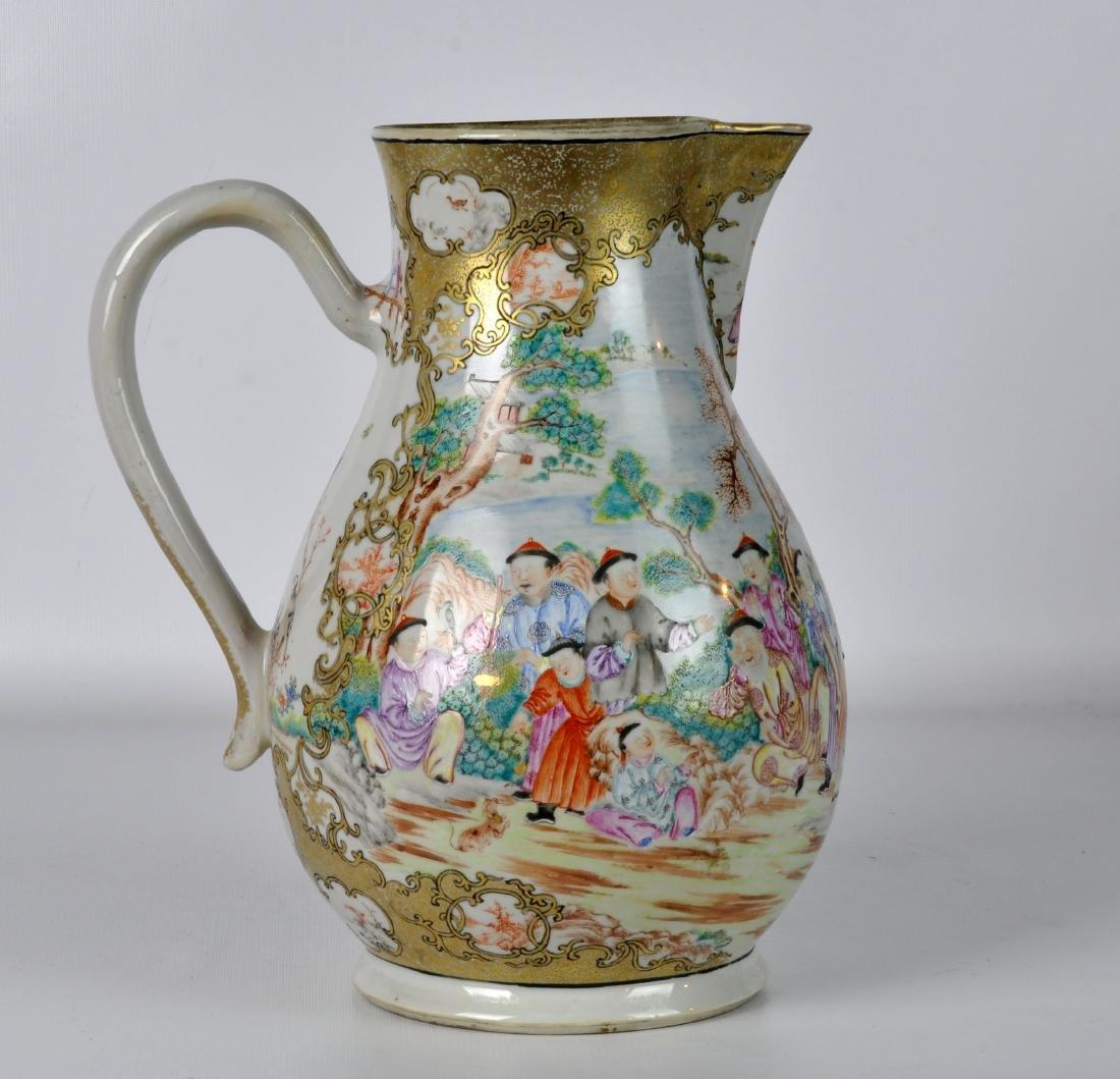 Chinese Export Ceramic Antique Water Jug - 2