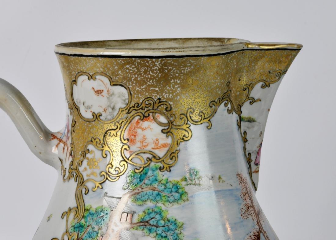 Chinese Export Ceramic Antique Water Jug - 4