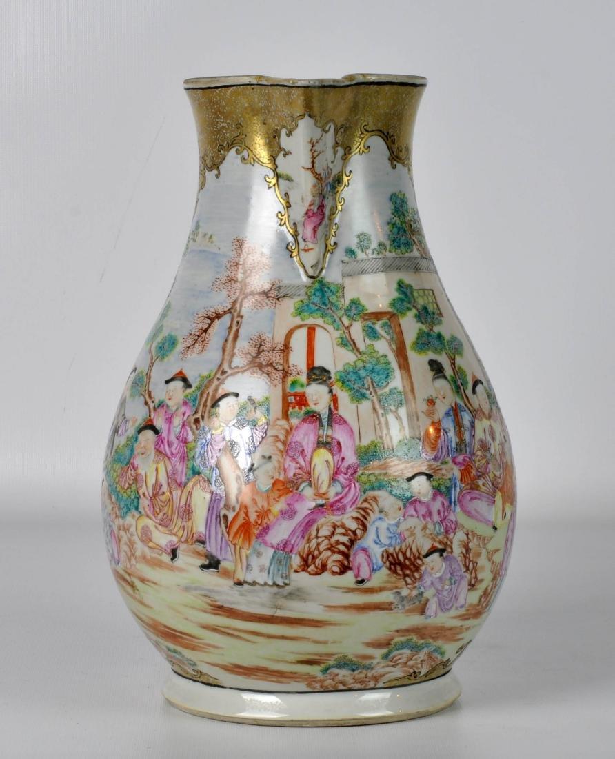 Chinese Export Ceramic Antique Water Jug - 5