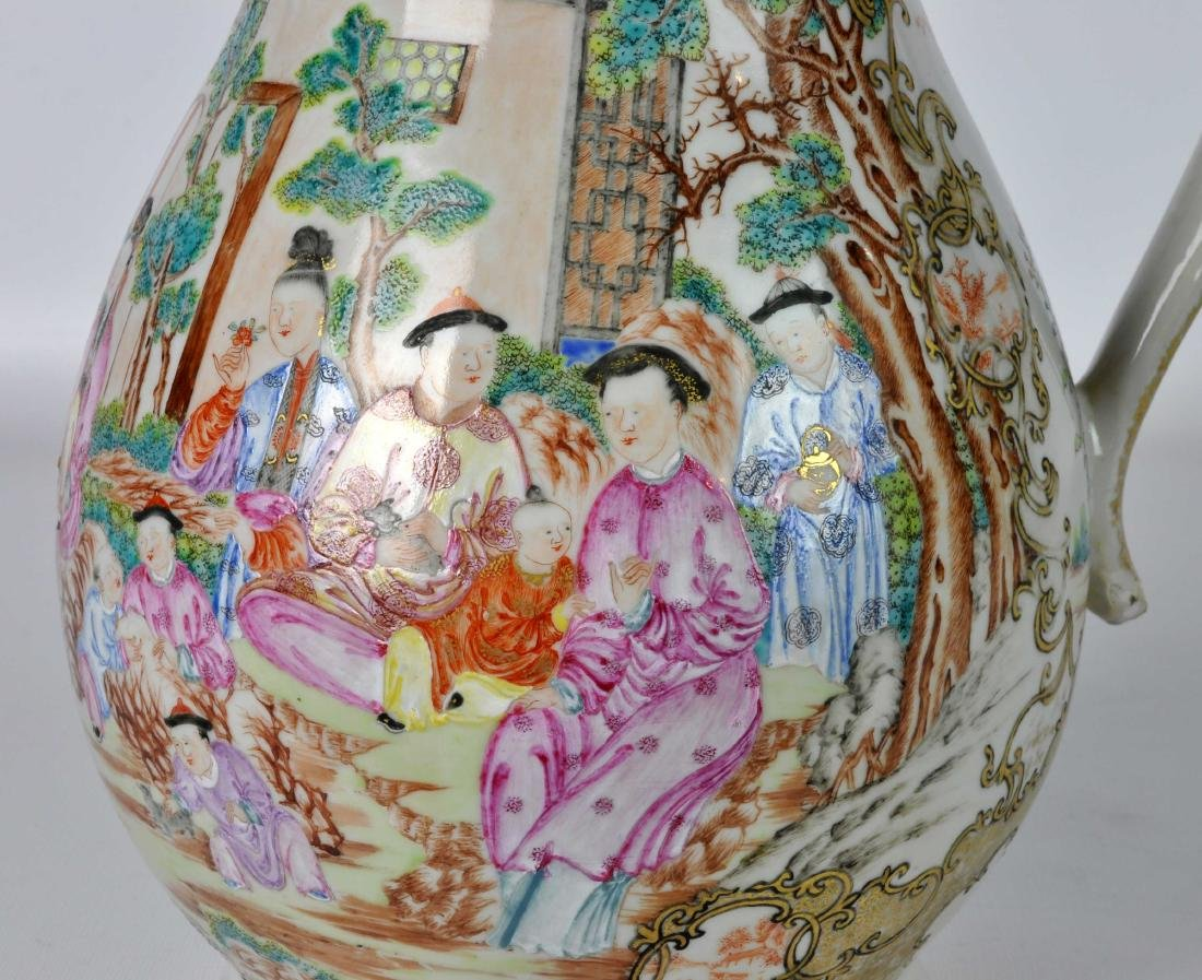 Chinese Export Ceramic Antique Water Jug - 7
