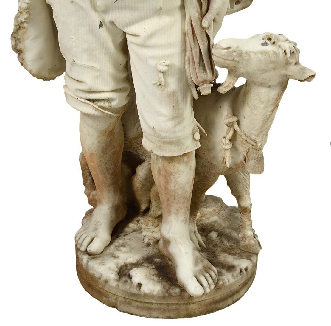 Luigi Bianchi 1890 Signed Marble Garden Statue - 2