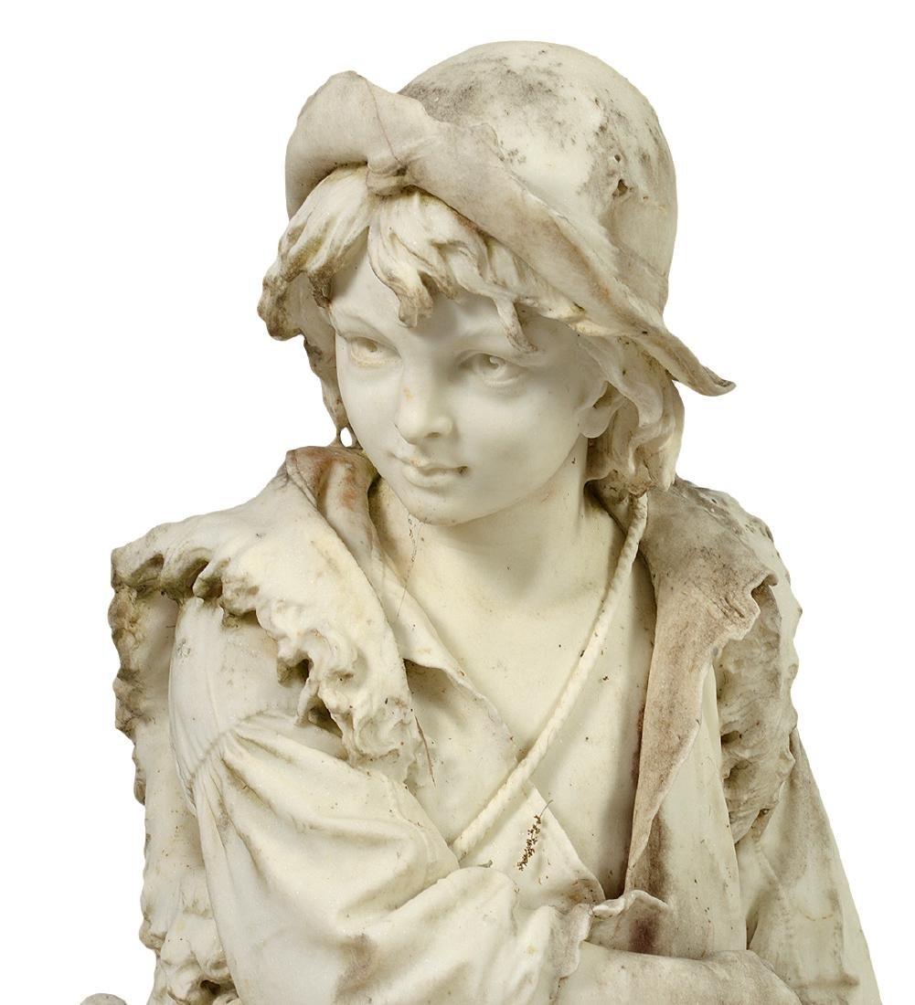 Luigi Bianchi 1890 Signed Marble Garden Statue - 3