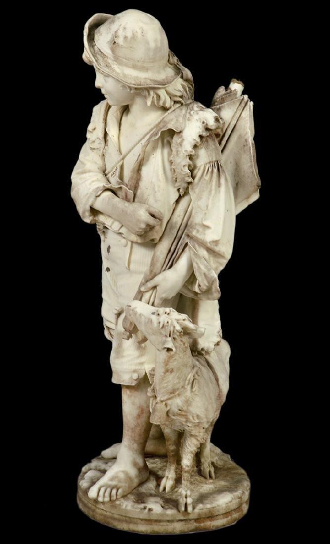 Luigi Bianchi 1890 Signed Marble Garden Statue - 6