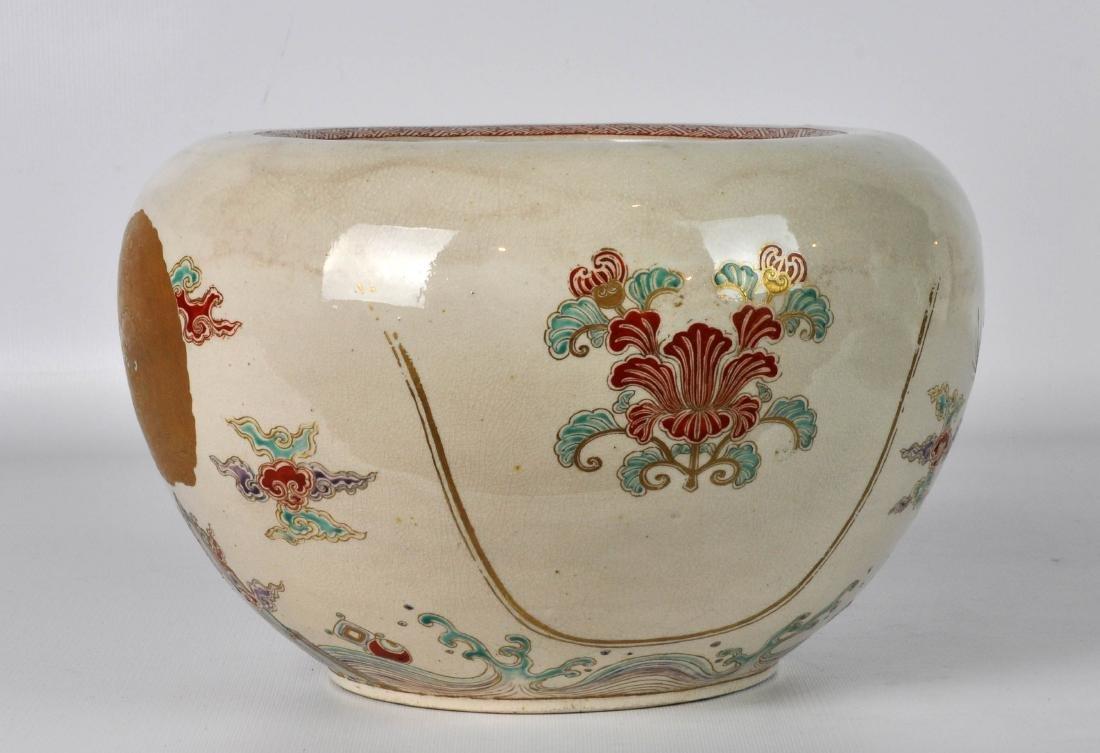 Japanese Antique Porcelain Censor with Silver Lid - 3
