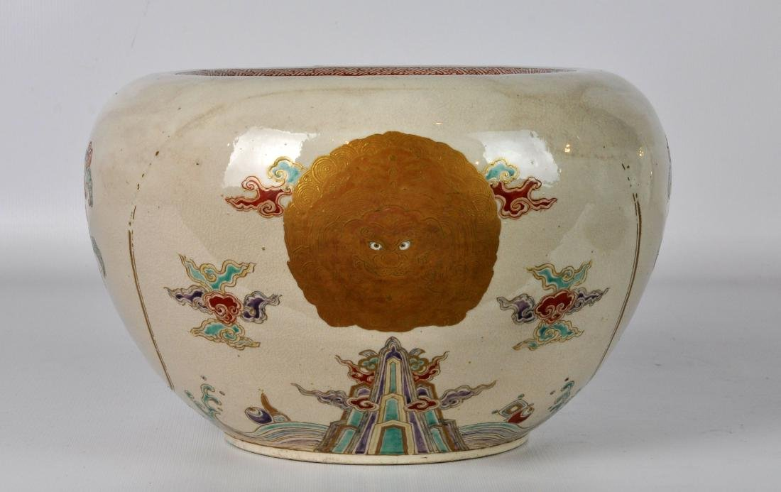 Japanese Antique Porcelain Censor with Silver Lid - 4