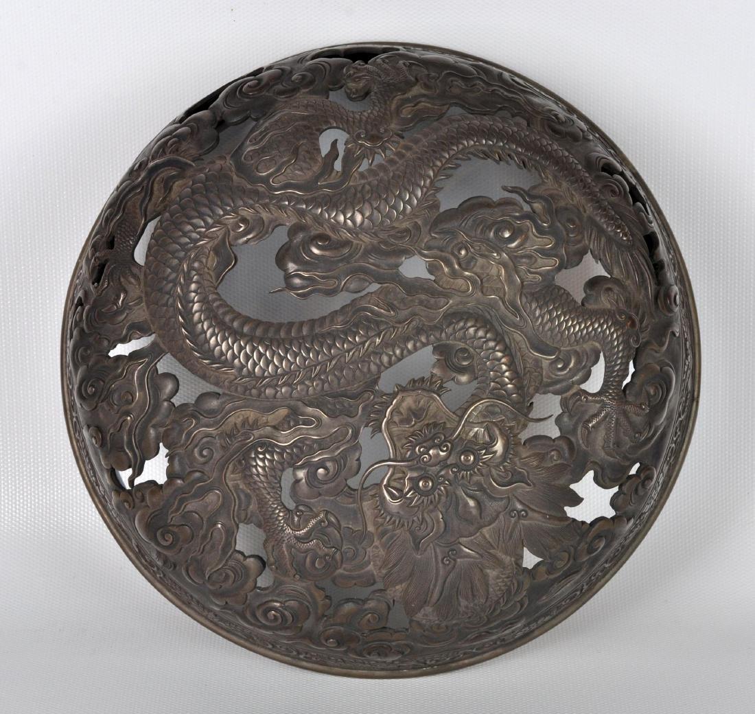 Japanese Antique Porcelain Censor with Silver Lid - 9