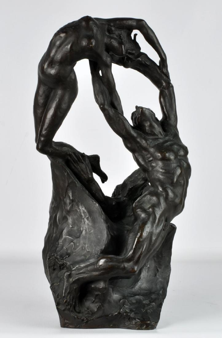 """""""Orpheus & Eurydice"""" Bronze by Ambrosi 1919"""
