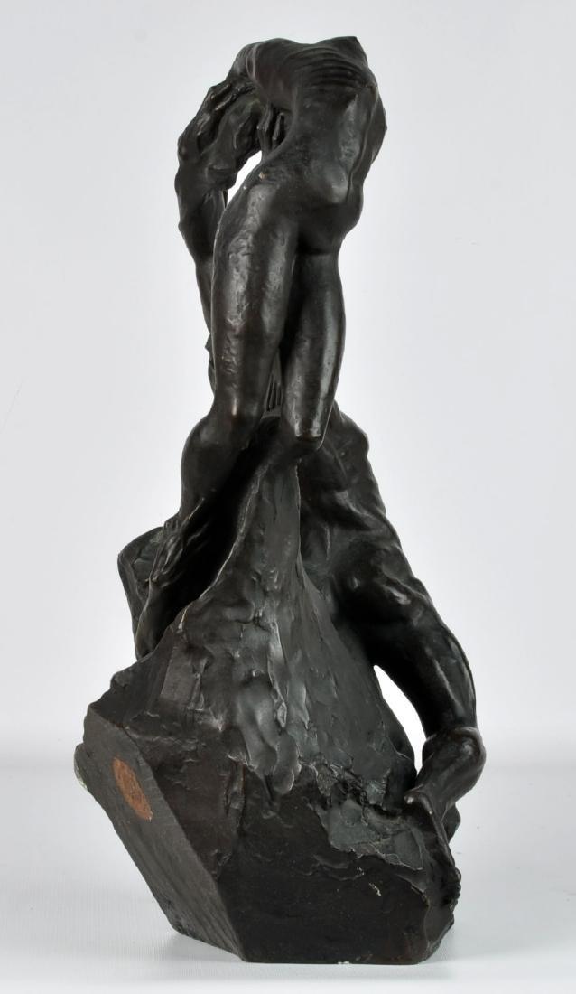 """""""Orpheus & Eurydice"""" Bronze by Ambrosi 1919 - 2"""