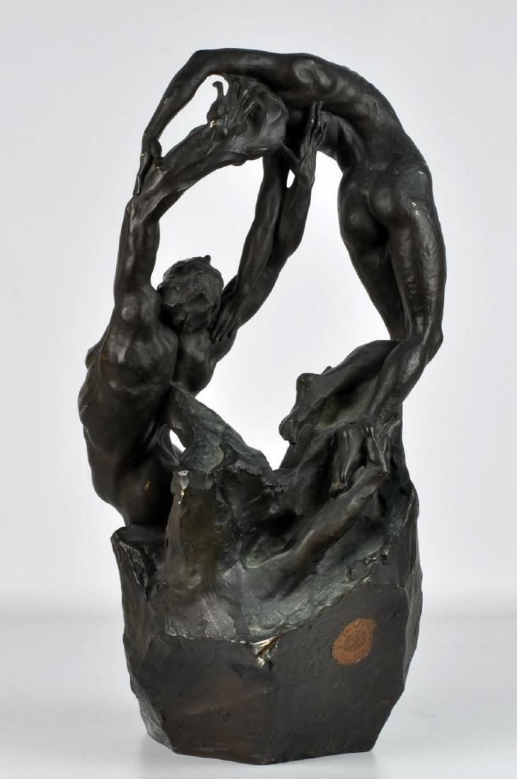 """""""Orpheus & Eurydice"""" Bronze by Ambrosi 1919 - 3"""