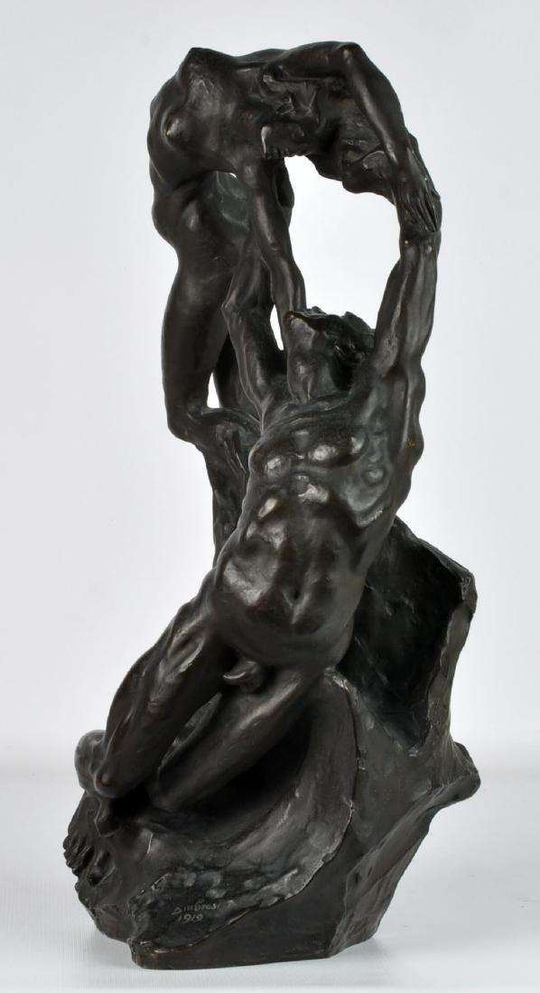 """""""Orpheus & Eurydice"""" Bronze by Ambrosi 1919 - 4"""