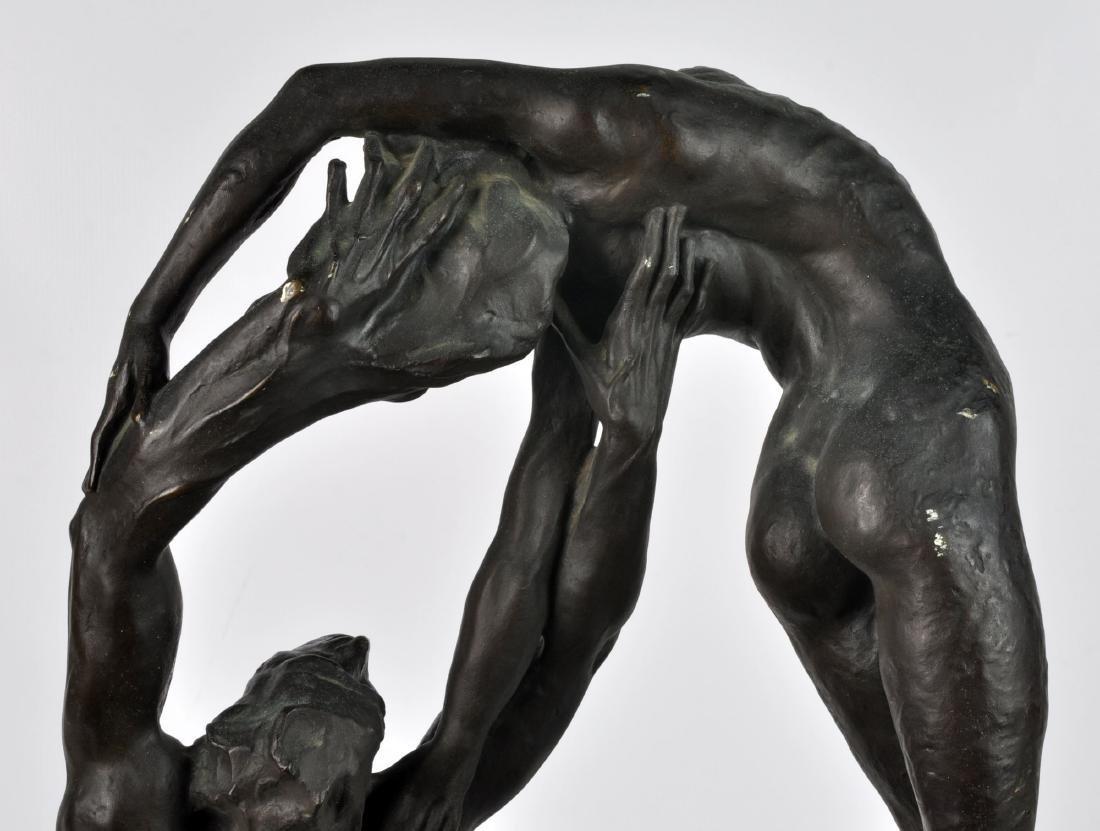 """""""Orpheus & Eurydice"""" Bronze by Ambrosi 1919 - 6"""