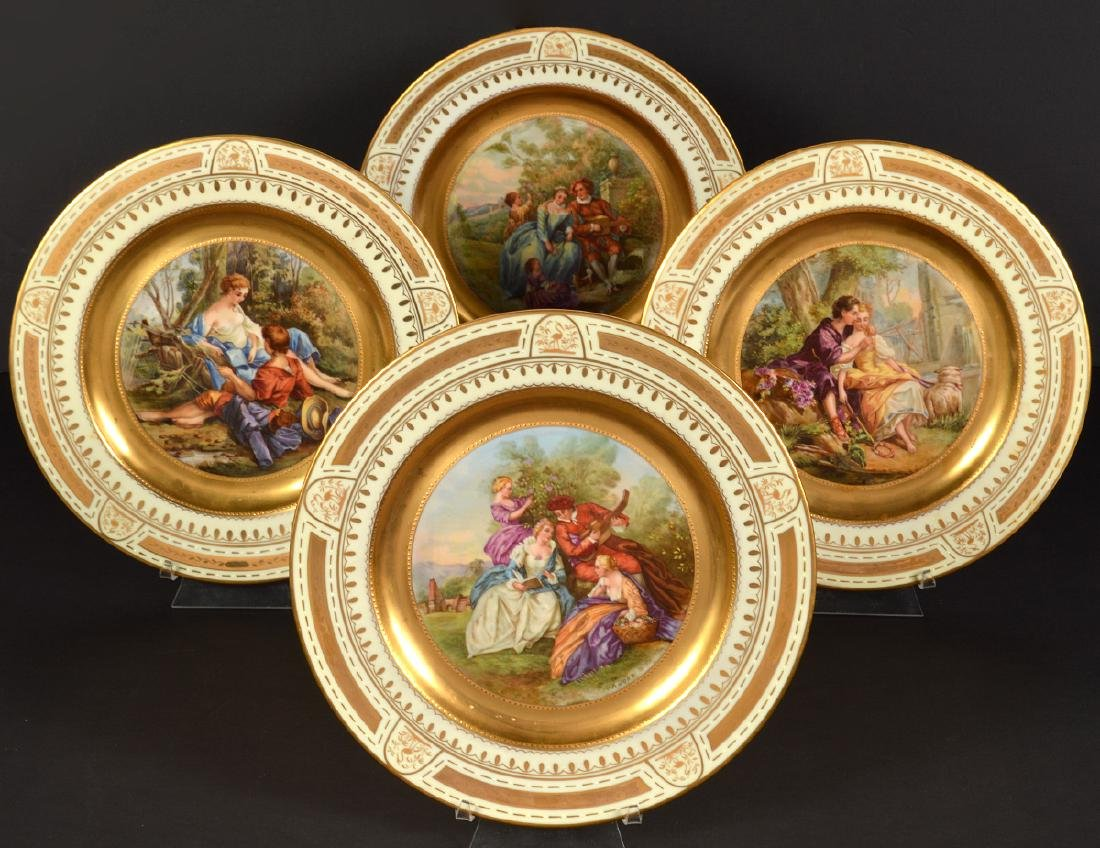 4 Royal Vienna Plates