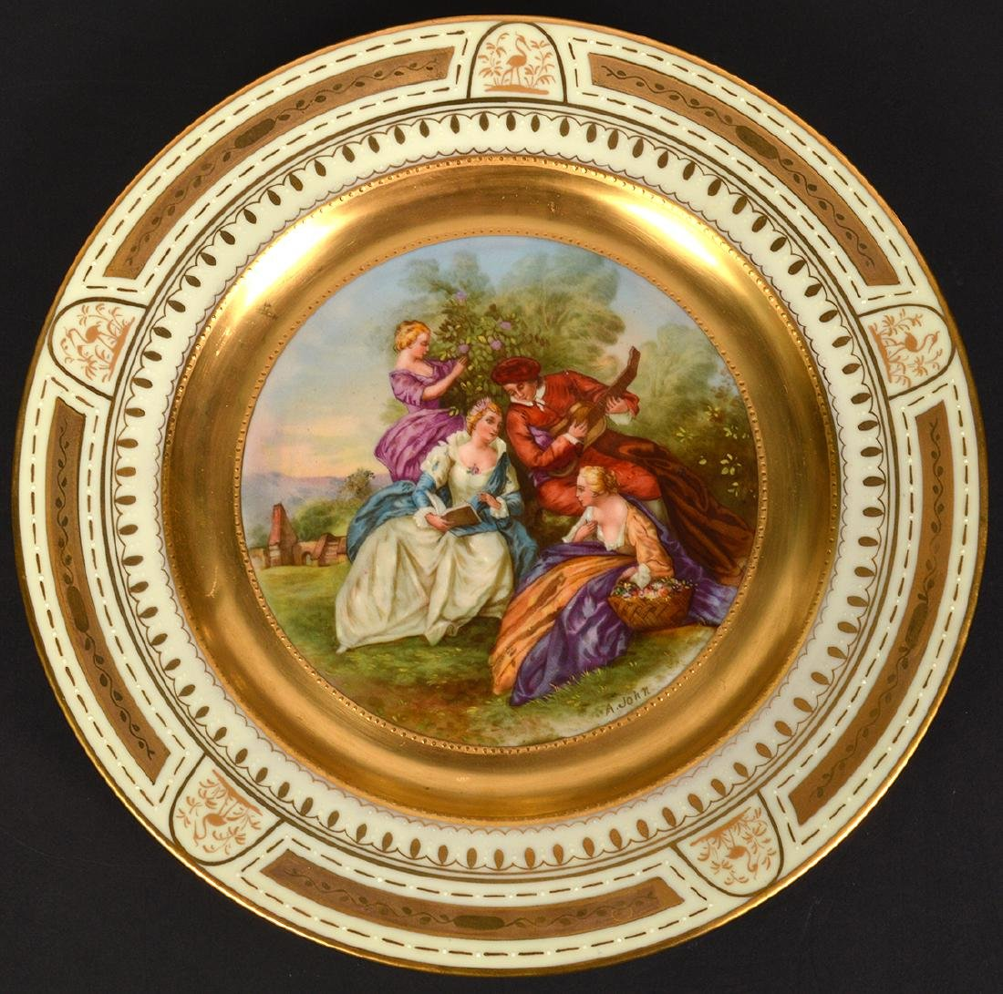 4 Royal Vienna Plates - 2